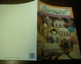 Box Cover Patterns Southwest Tissue Covers The Needlecraft Shop 90PH12 Plastic Canvas Pattern Leaflet