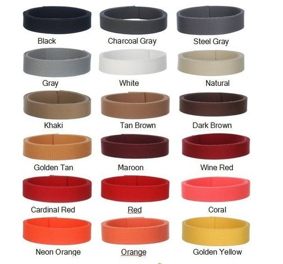 5 Yards 1.25 Inch Heavy Cotton Webbing   - 45 GORGEOUS COLORS - Mix & Match - Unbelievable Prices