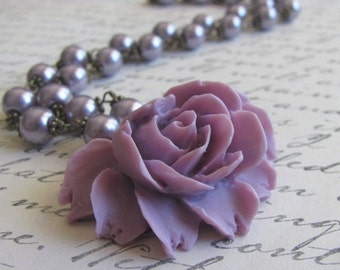The Violet Rose Necklace