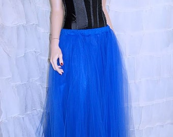 Formal Royal Blue Floor Length Tulle Skirt Adult All Sizes MTcoffinz