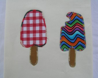 Tea Towel Two Ice Creams (371)