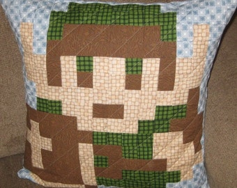 Link Quilted Pillow Cover - free USA shipping