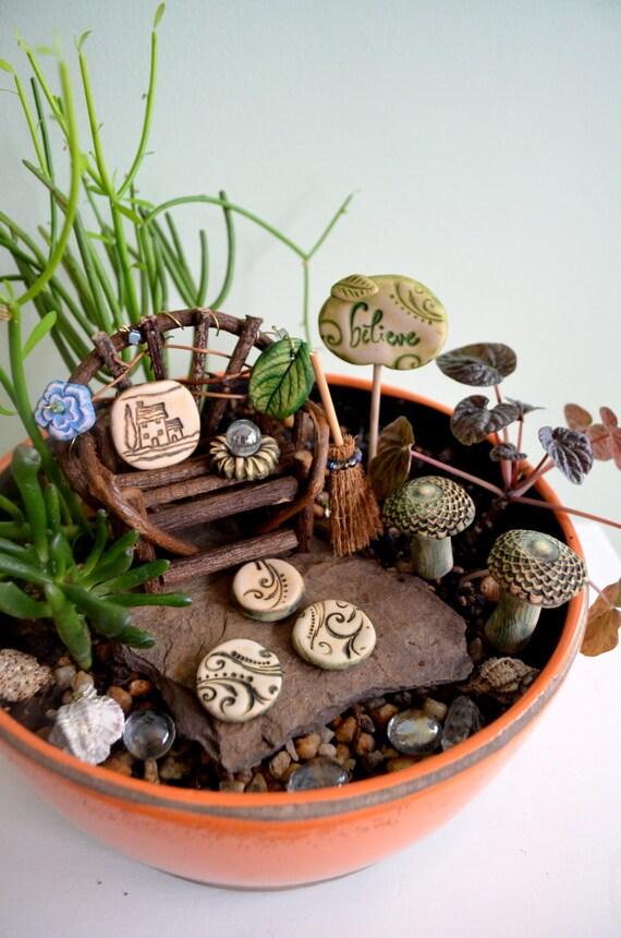 Fairy Garden Kit Cinnamon Swirl gift set 11 items by garnetteh