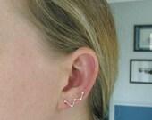 Constellation Ear bobby pin Silver Earrings Cassiopeia Ear Climber