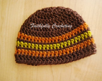 Newborn Beanie...Ready to ship... Fall colors