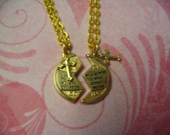 Mizpah Religious Necklaces with Cross Inspirational for Mother Daughter Sisters or Friends Christian Gift