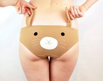 Bunny face knickers with ears lingerie underwear