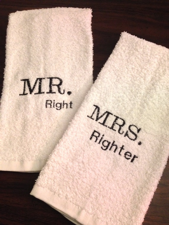 Hand Towels Wedding Gift Anneversary Gift By Missmachandmade
