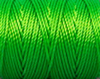 Neon Green C-lon Tex 400 Beading Cord 43 yards
