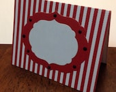 Circus/Carnival Buffet Cards set of 6~Movie, Place Cards,