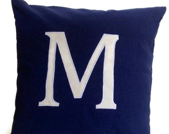 20 % OFF Personalized pillows, Personalized Throw Pillows, Navy Personalized sofa pillow, Personalized Monogram Pillows