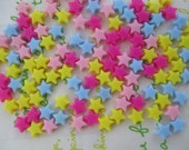 Tiny colorful star beads 6grams 6mm Mix
