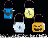 Halloween Baskets (4 different designs) - template, pdf, printable