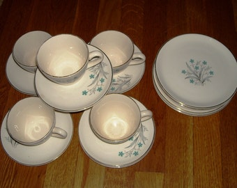 Set of DESSERT-LUNCHEON Plates, Cups and Saucers