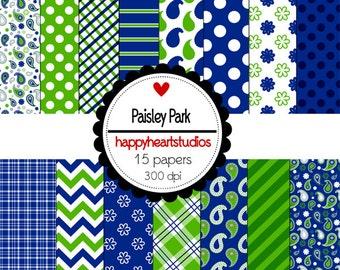 Digital Scrapbooking PaisleyPark-INSTANT DOWNLOAD
