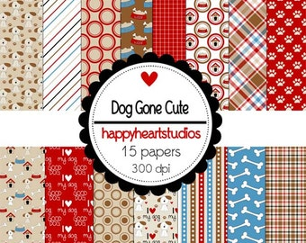 Digital Scrapbook DogGoneCute-INSTANT DOWNLOAD