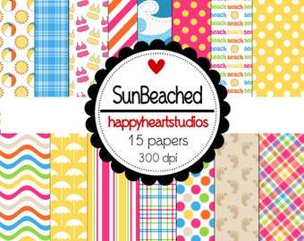Digital Scrapbooking SunBeached- INSTANT DOWNLOAD