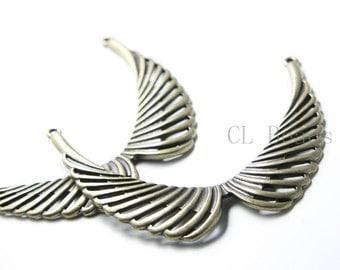 2pcs Antique Brass Base Metal Links - Wing 76x62mm (180C-B-511)