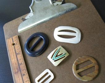 Set of 5 Vintage Belt Buckles