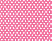 One (1) Yard - Kiss Dot Fabric in Blossom Pink by Michael Miller Fabrics CX5518-Blossom