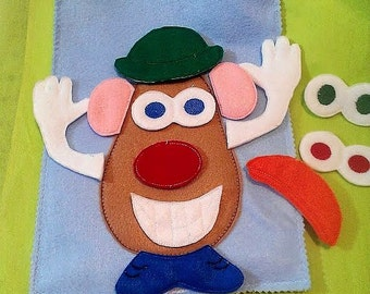 Spud head felt mat game educational game learning toy Eco-Friendly felt game