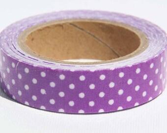 Washi tape - Purple Polka Dot Fabric Tape - Washi