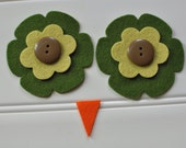 Ollie Owl Hat - Eyes and Beak Kit - Fern and Yellow Green