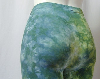 Monet Leggings in Avocado and Wedgewood Blue (large)