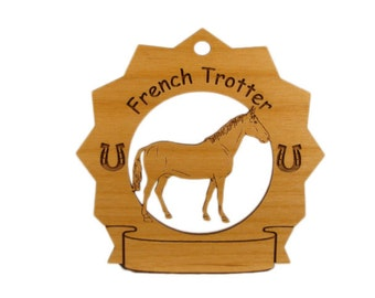 8126 French Trotter Horse Personalized Wood Ornament