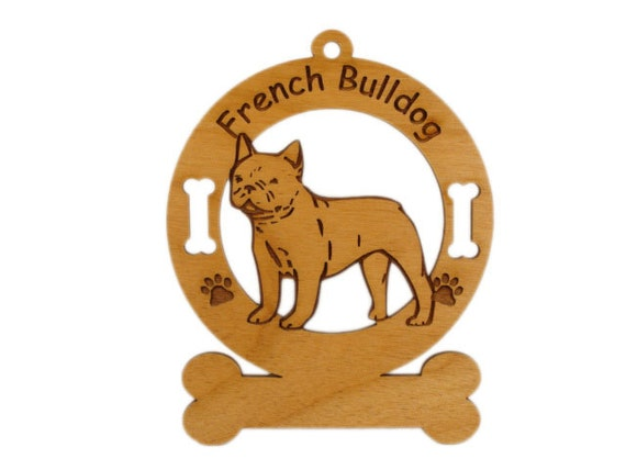 3201 French Bulldog Standing Personalized Dog Ornament