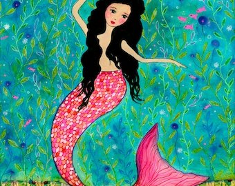 Dancing Mermaid Art Print by Sascalia