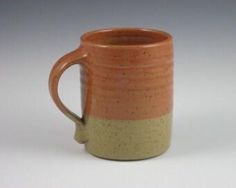 Glossy Coral Tan Large Mug