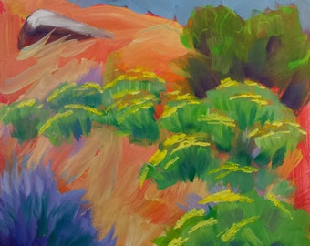Sage 1.2 abstract oil painting of Oregon desert sage