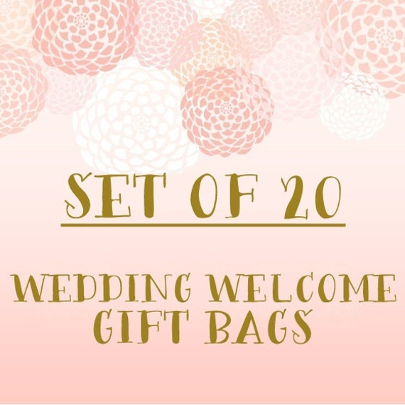 Set Of 20 Wedding Welcome Gift Bags Bulk Discount