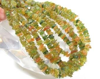 Rare Intense Chrome Green Rare Gold Tourmaline Raw Rough Nugget Beads 1/2 Strand Transparent