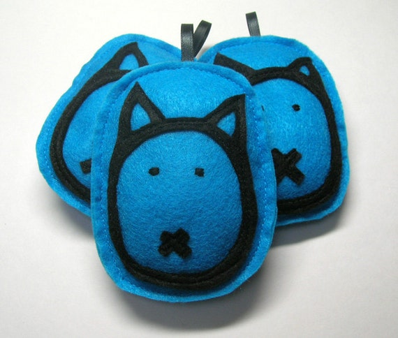 Teal Cat 2013 Holiday Ornament