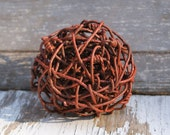 Wire Sphere - Wire Ball - Industrial Home Decor - Vintage Wire Art - Primitive Home