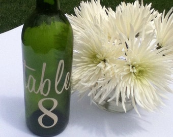 Table Vinyl Numbers Wedding Table numbers