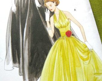 Evening Dress Pattern - Vogue V2962 - Vintage 1950s - Full Skirt Formal Gown Bustle Wedding Dress / UNCUT