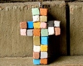 The Patchwork Cross Mosaic Pendant - A Dirt Road South Exclusive