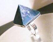 NEW SupHerOrgone Third Eye Chakra Orgone Pyramid Ring or Necklace 852 hz