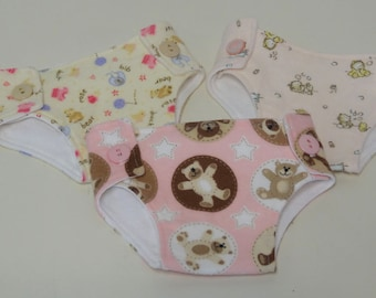 Bitty Baby Cloth Diapers, set of three- Teddy Too