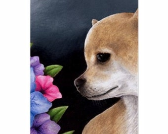 Fridge Magnet Print ACEO from my original painting Dog 77 Chihuahua by Lucie Dumas