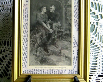 "Vintage Print ""She made him tell of everything that had happened""  The Trail of Lonesome Pine, 1908 Best Seller"