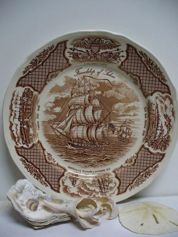 Alfred Meakin - Staffordshire England - Fair Winds Transferware Dinner Plate