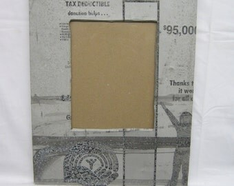 TIN  Picture Frame 8x10 Shabby  Recycled chic S- 1860-14