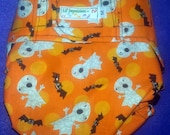 Lil' Impressions Diaper Cover, Halloween Ghostsand Bats Print, Size Medium, 15 to 27  lbs