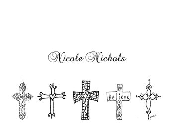 Custom personalized cross note cards custom notecards cross stationery cross notecards  wedding  bridesmaids Crosses