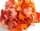 Wool Felt Scrap Bag - Orange Felt Assortment - Remnants