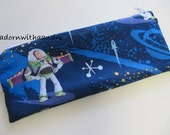 Zippered pencil case made with Disney's Buzz Lightyear fabric